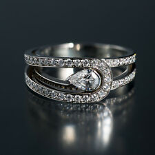 "FRED of Paris ""Lovelight"" 950 Platinum Diamond Ring. Stunning. Size 5.5 to 7"