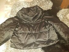 Zara Black Padded Puffa Short Jacket Size Small 8/10