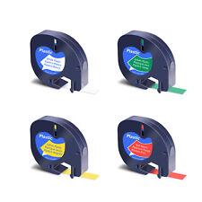 4pk Refills Plastic Label Tape For Dymo Letratag 91331 91332 91333 91334 White
