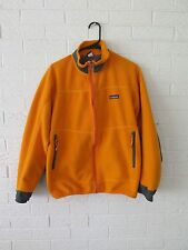 VTG PATAGONIA 1999 PARTIAL ECLIPSE ORANGE GRAY FLEECE JACKET WINDBLOCK PEF M