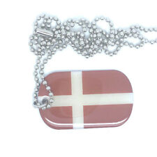 Dänemark Danmark Dog Tag Erkennungsmarke Anhänger Kette flag 3x5cm