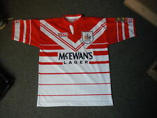 Vintage St Helens RLFC Large Mens Rugby League Shirt