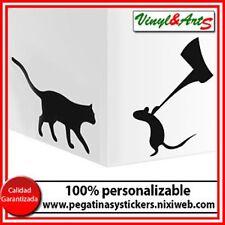 vinilos adhesivos decorativos pegatinas pegatina sticker stickers gato raton