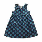Azul Para Niña De Topos Vestido Fiesta Verano 5-6 Años