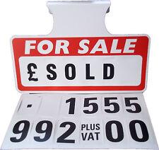 3 x For Sale Sign Board, Car Price/Pricing Sun Visor, Vehicle/Auto Price Unit