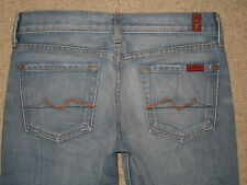 7 For All Mankind Size 26 Flare Low Rise Womens Jeans