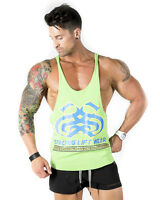 Strong Liftwear Mens Tank Top Gym Singlet T Back Bodybuilding Stringer Symmetry