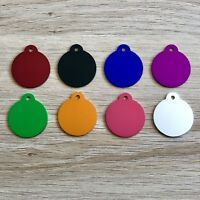 $3.80! SUPERB Quality! ROUND / CIRCLE, Dog, Cat, Pet ID Tag, FREE Engrave & Post