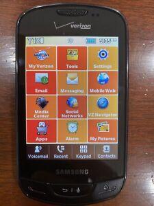 Samsung Brightside SCH-U380 Verizon Touchscreen Slider Smart Phone Black w/cord