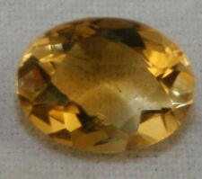 NATURAL YELLOW CITRINE LOOSE GEMSTONE 6X8 FACETED OVAL CUT 1.15CT CI8K