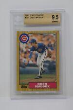 1987 Topps Traded #70T Greg Maddux Rookie Cubs 🔥Beckett 9.5 GEM MINT
