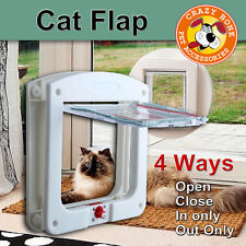 4 Way Small Medium large Pet Cat Dog Supply Lock Lockable Safe Flap Nest Door