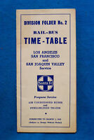 Santa Fe Time Table - Los Angeles - San Francisco - San Joaquin Valley - 3/1/42