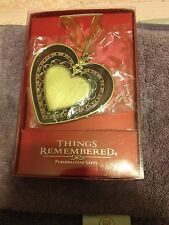 Things Remembered Wine & Roses Heart Ornament  •NIB•