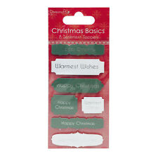 Dovecraft 'Happy Christmas'/'Warmest Wishes' Sentiment Toppers