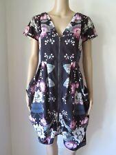 + Size XS/14-16 | CITY CHIC  | Stylish Wild Floral Draped Dress  | ClassyCurves