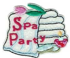 Girl Boy Cub SPA PARTY TOWELS Fun Patches Crests Badges SCOUT GUIDE Iron On