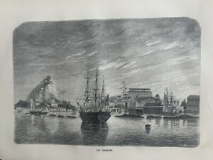 1870 View Of Bermuda Original Antique Print Over 150 Years Old