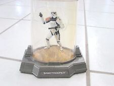 STAR WARS TITANIUM SERIES DIECAST SANDTROOPER ACTION FIGURE IN CASE used