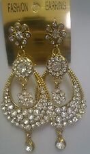 Crystal Gold Asian Earrings