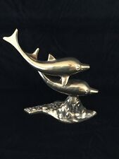Vintage Brass Dolphin Collectable Statue Ornament