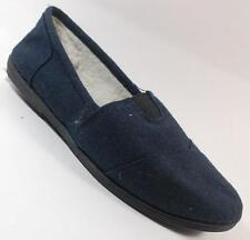 SODA Womens OBJECT  NAVY   Loafers Faux Fur PADDED Footbed Shoe SZ 6.5