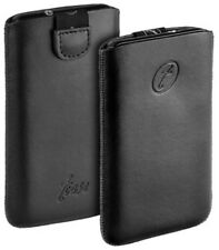 T- Case Leder Etui Tasche f Sony Xperia S LT26i Hülle schwarz black