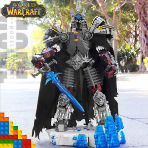 IDEAS WOW Death Knight Lich King Classic War Action Figures Building Blocks Toys