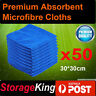 50pcs Microfibre Cleaning Cloth Towel Large Size for Car & Home Thick Microfiber