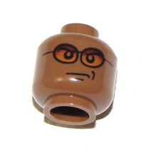 LEGO NEW DARK FLESH MINIFIGURE HEAD WITH ORANGE SUN GLASSES FIGURE PIECE