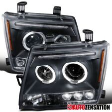 For 2005-1202 Nissan Xterra Replacement Black LED DRL Halo Projector Headlights