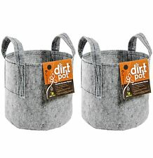 "(2) HYDROFARM HGDB5 5 Gallon Portable Dirt Pot Garden Planters | 12"" x 10.5"""