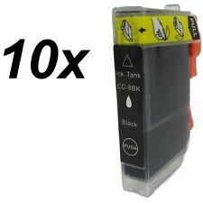 10x Druckerpatronen für CLI-8BK Canon Pixma MP500 MP510 MP520 MP530 MP600 MP600R
