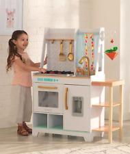 KidKraft Vintage Luxe Collection Boho Bungalow Wooden Pretend Play Kitchen White