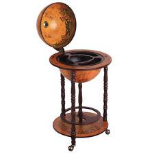 Homcom Bar Globe terrestre Vintage Déco. Cartographie ABS Châssis bois