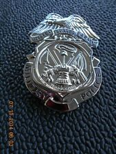 Us Army Mp Nickel Mirror Finish Full Size Shield Insignia