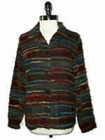 COLDWATER CREEK Size L Jacket Red Black Blue Green Long Sleeve