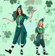 Deluxe Irish Leprechaun St Patricks Ireland Day Fancy Dress Ladies Girls Costume