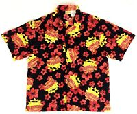 Vintage 🌴 Hawaiian Tropic Brand 🌴 Men's L Floral Shirt Short Sleeve Tropical