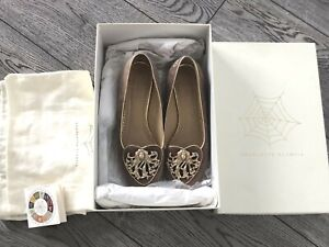 AUTH CHARLOTTE OLYMPIA ZODIAC VIRGO PINK SUEDE FLATS LOAFERS EU 38 UK 5 US 7