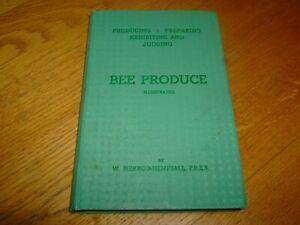 W HERROD HEMPSALL-BEE PRODUCE ILLUSTRATED-BEEKEEPING-SIGNED-1ST-1948-HB-G-V RARE