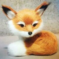Realistic Stuffed Animal Soft Plush Kid Cute Toy Sitting Fox Xmas Gifts E2F3