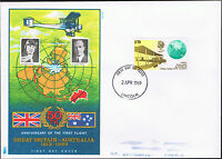 First day of Issue 2nd April 1969 50th Anniversary 1st Flight GB - Australia