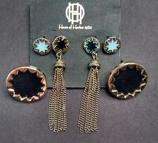 House of Harlow lot of new earring sets studs tassles etc