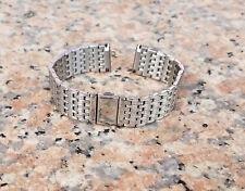 LUXURY 18mm SOLID Strait End Stainless Steel Watch Band Strap Bracelet Men Woman