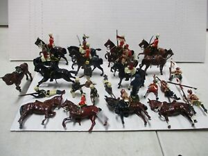 22 Britains Dragoon Cavalry, Africa Rifles, and Hussars Soldiers