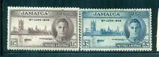 JAMAICA 136-37a SG141a-42a MH 1946 KGVI Peace set of 2 Perf 13&1/2 Cat$7