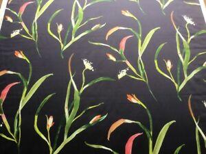 Harlequin curtain fabric 'Saona' 1m Papaya/Cassis - Cotton