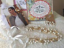 NIB Plunder February 2018 Posse Gold & Pearl Necklace Earrings