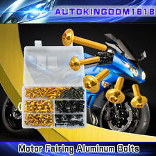 Gold Fairing Bolts Kit Fastener Clips Screw F Yamaha YZF R6 1999 2000 2001 2002